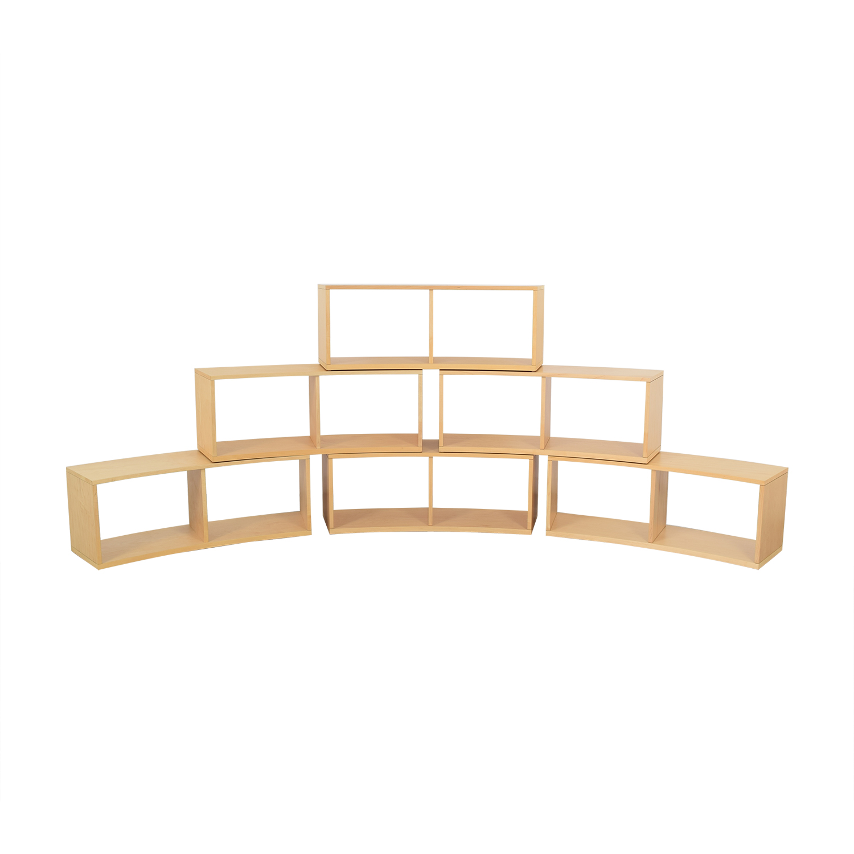 Jensen-Lewis Jensen- Lewis Curved Modular Bookcase nj