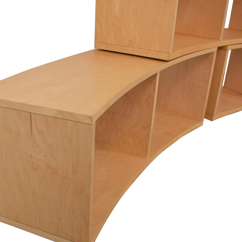shop Jensen- Lewis Curved Modular Bookcase Jensen-Lewis Storage