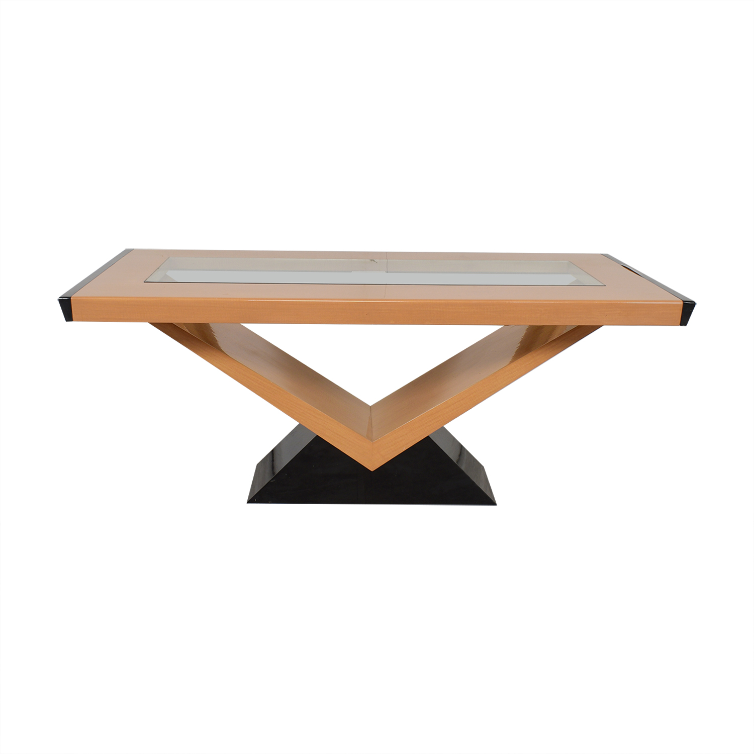 Contemporary Style Extendable Dining Table second hand