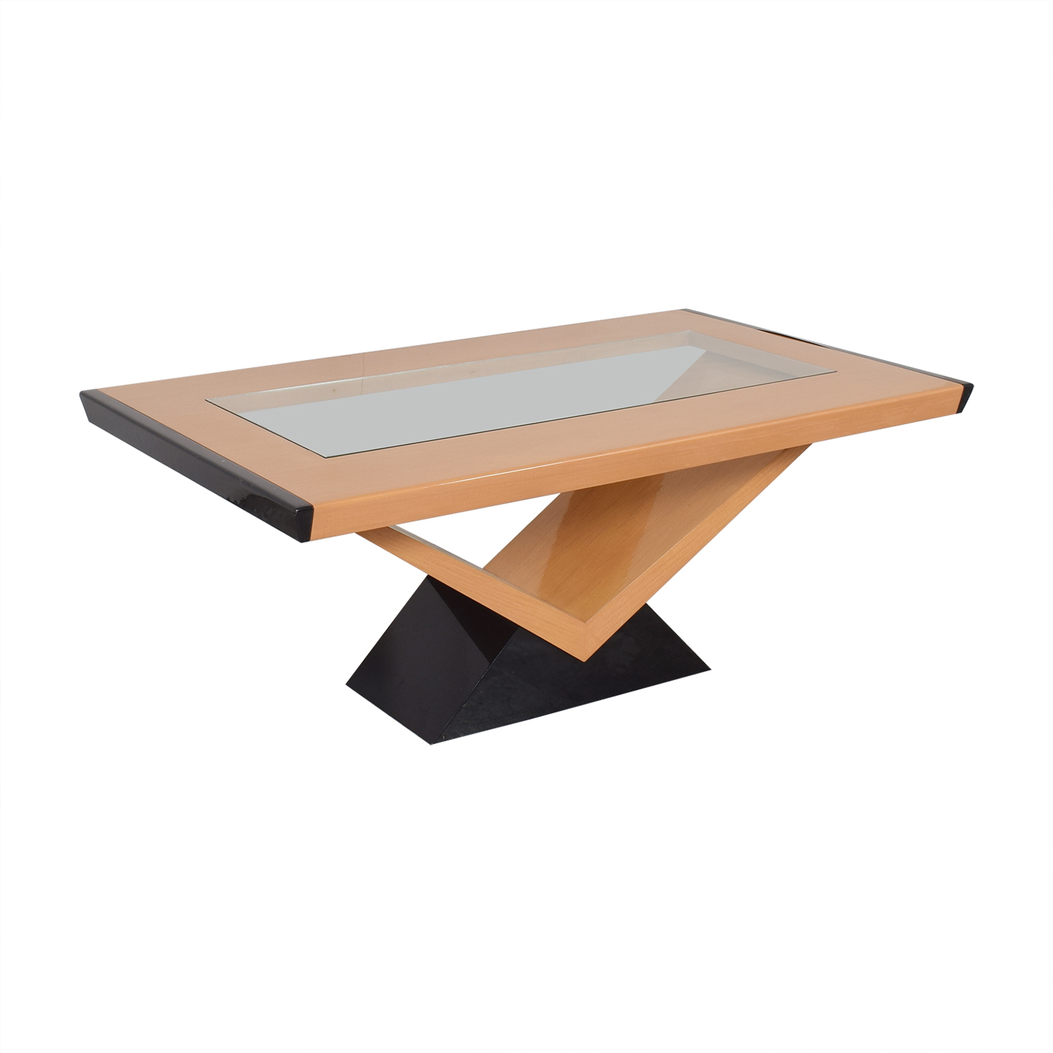 Contemporary Style Extendable Dining Table used