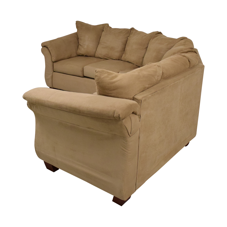 Washington Furniture Washington Furniture Five Cushion Sectional Sofa beige