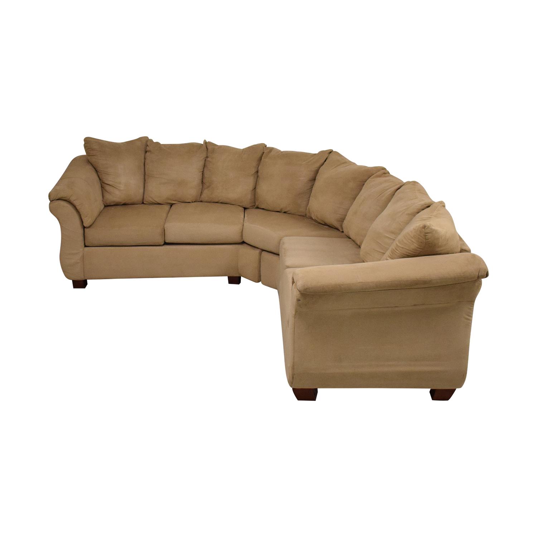 Washington Furniture Washington Furniture Five Cushion Sectional Sofa pa