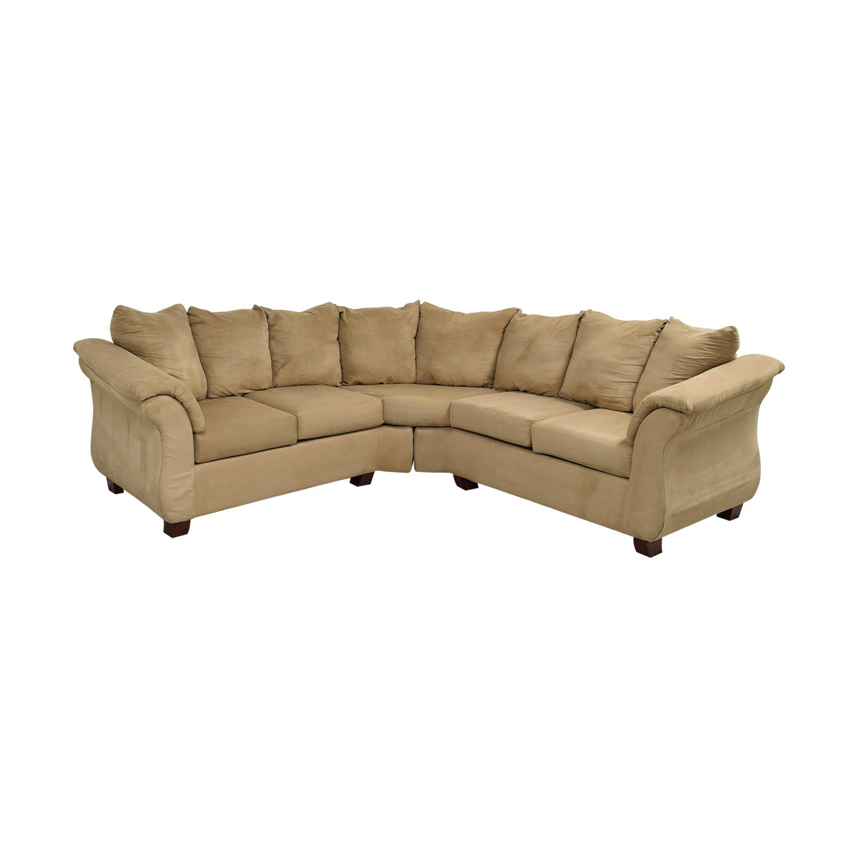 shop Washington Furniture Five Cushion Sectional Sofa Washington Furniture Sectionals