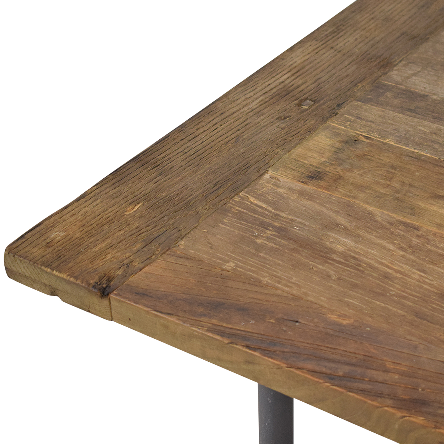 Restoration Hardware Restoration Hardware Flatiron Rectangular Dining Table brown and silver