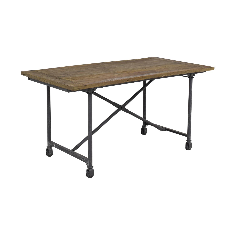 buy Restoration Hardware Flatiron Rectangular Dining Table Restoration Hardware Tables