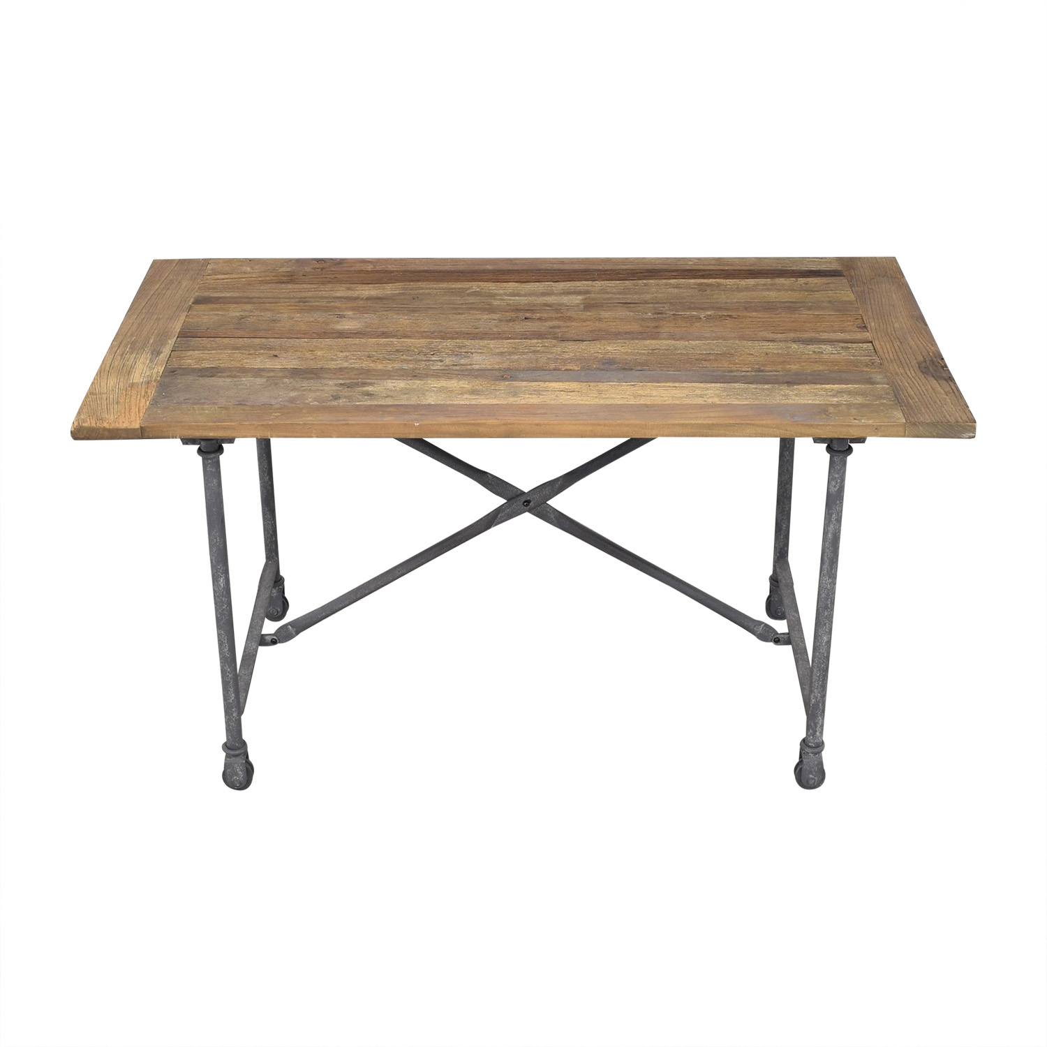 Restoration Hardware Restoration Hardware Flatiron Rectangular Dining Table second hand