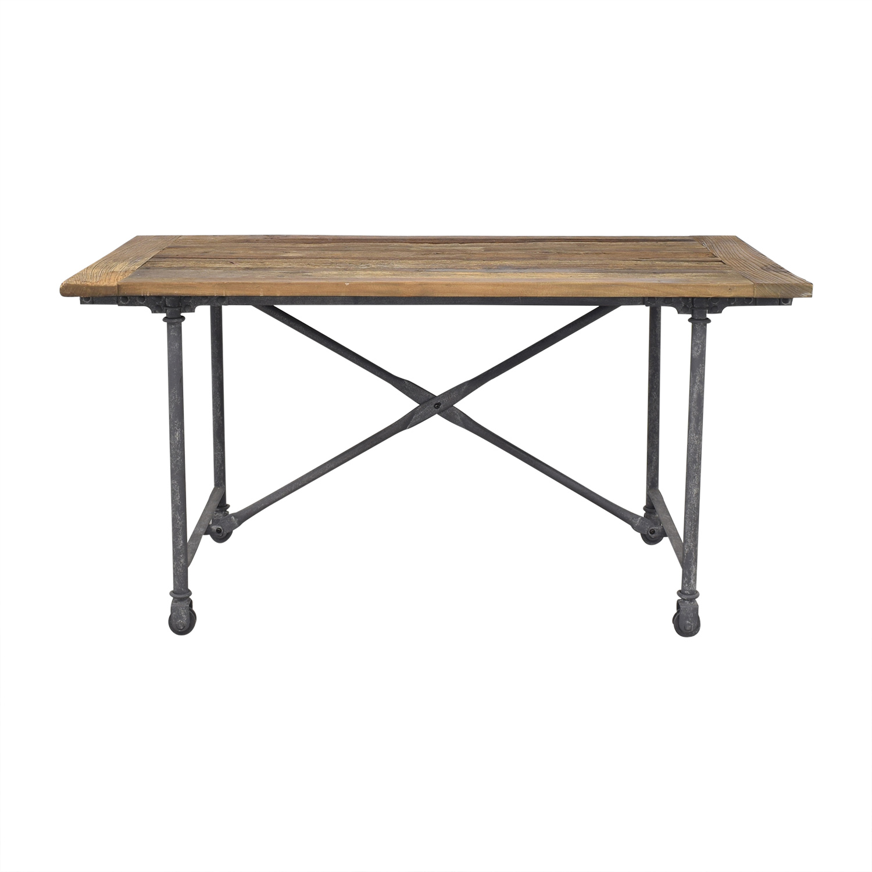 shop Restoration Hardware Flatiron Rectangular Dining Table Restoration Hardware Tables