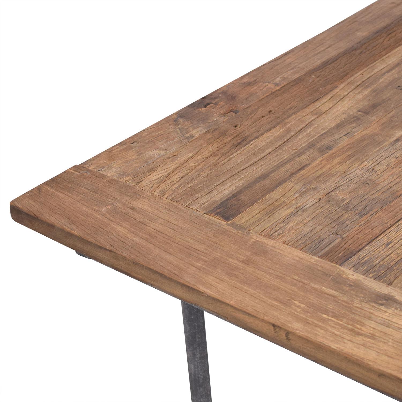 shop Restoration Hardware Flatiron Rectangular Dining Table Restoration Hardware