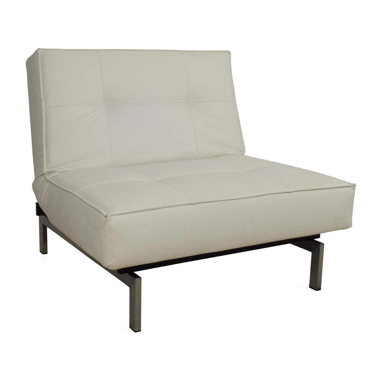 Innovation Innovation Split Back Leather Chair White
