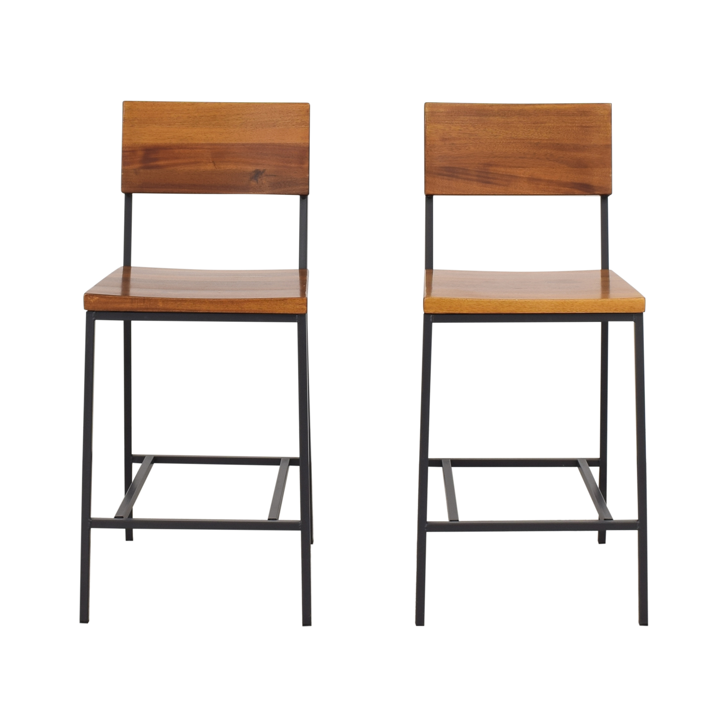 West Elm Rustic Bar Stools sale