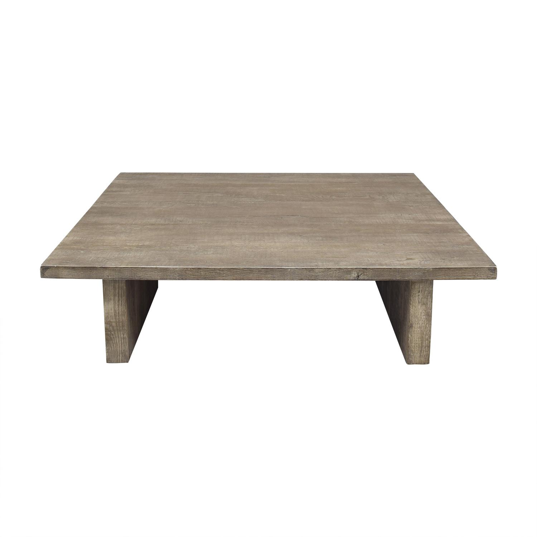 Restoration Hardware Restoration Hardware Reclaimed Russian Oak Plank Coffee Table discount