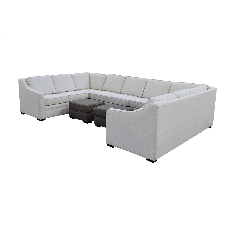England Furniture England Furniture U Shaped Sectional Sofa Sectionals