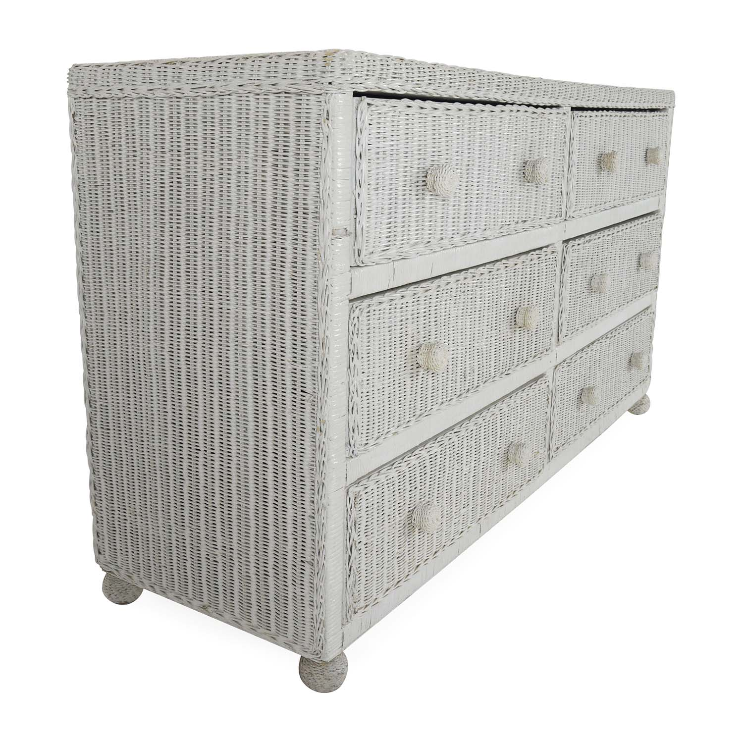storage center sale hand three media white second baskets with buy wicker for dresser off
