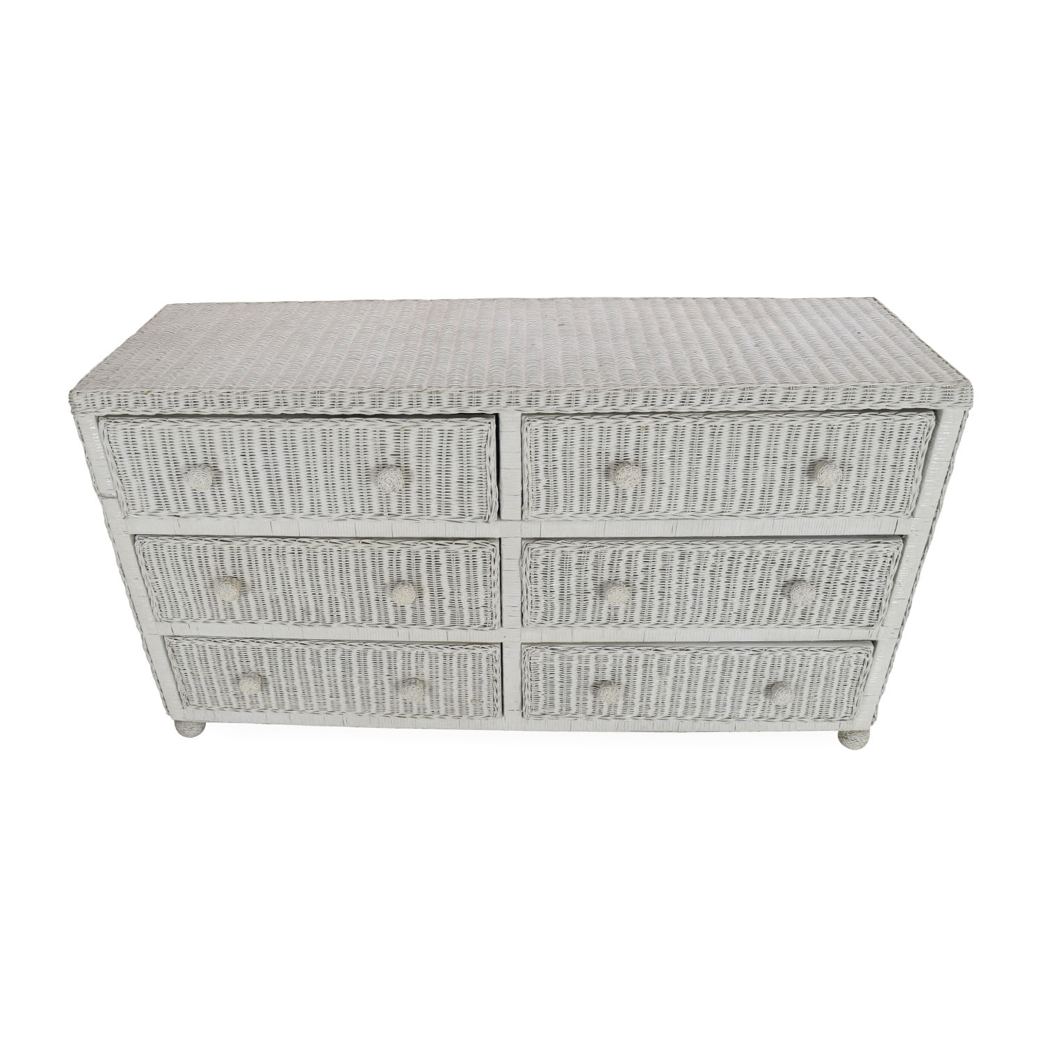 Elana Mar White Wicker Dresser sale
