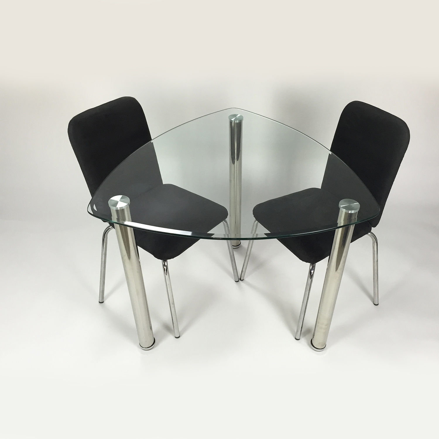 buy Custom Glass Suede Dining Set online