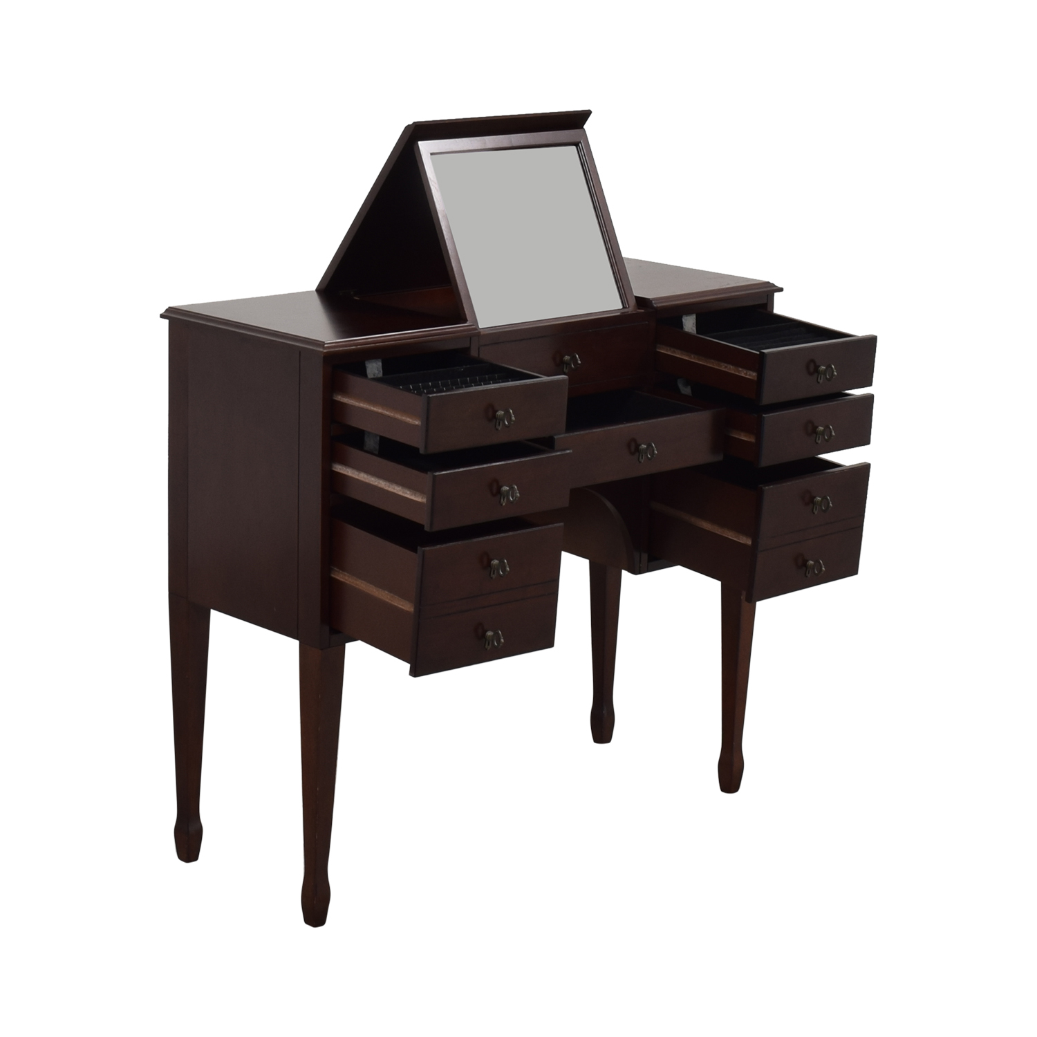 Bombay Company Vanity Table with Fold Down Mirror / Tables