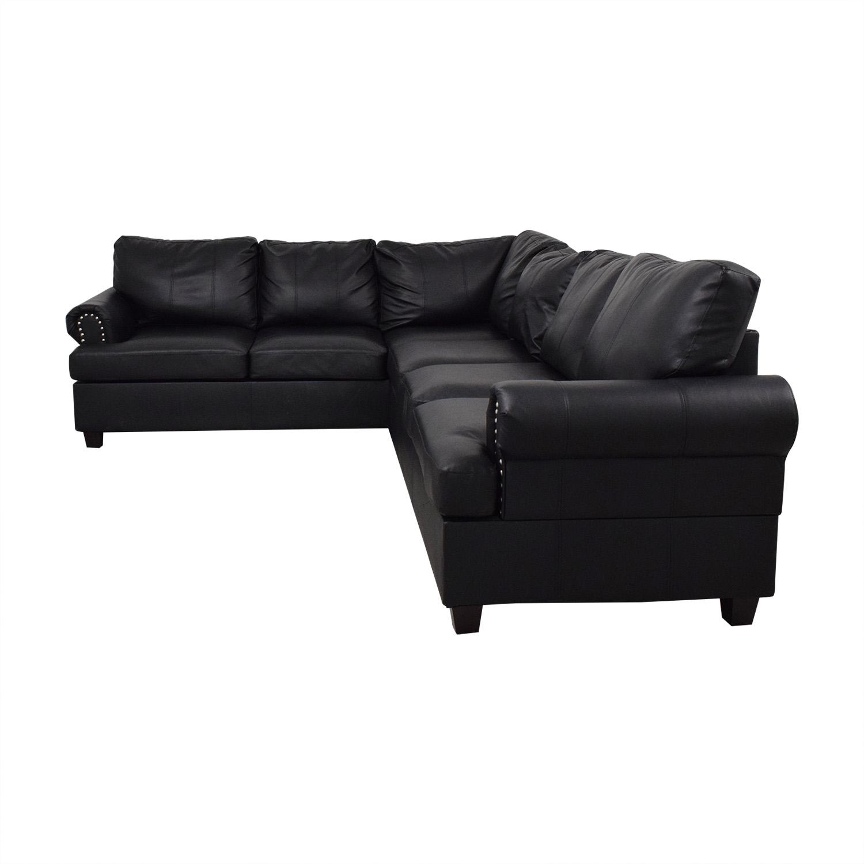 Poundex Poundex Bobkona Cady Reversible Sectional Sofa for sale