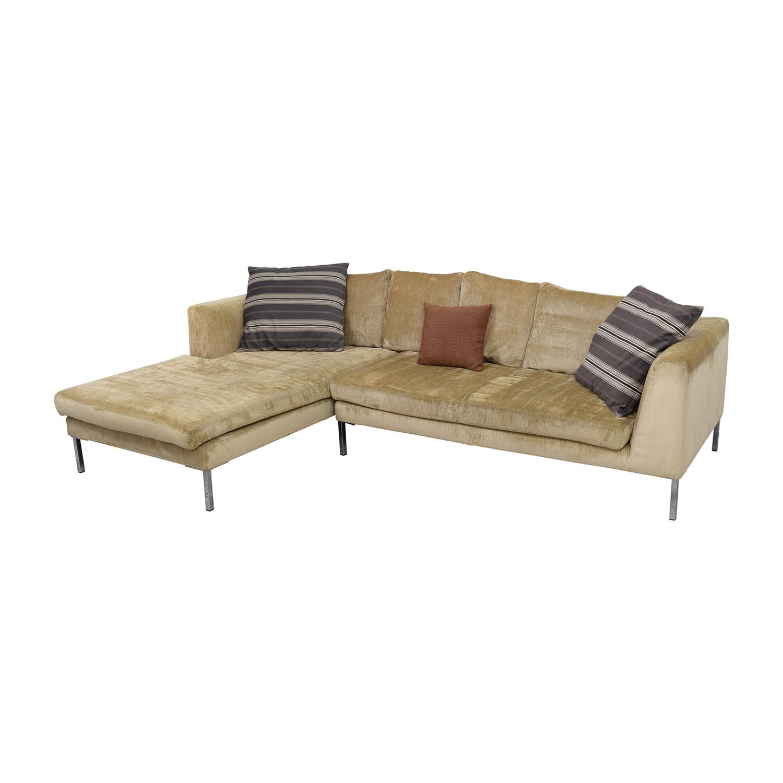 85 Off Modani Modani Beige Sectional Sofa Sofas