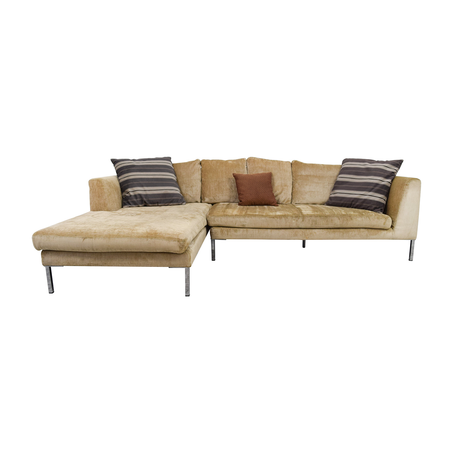 41% OFF Safaviah Safaviah Brown Tuifted Chaise Lounge Sofas