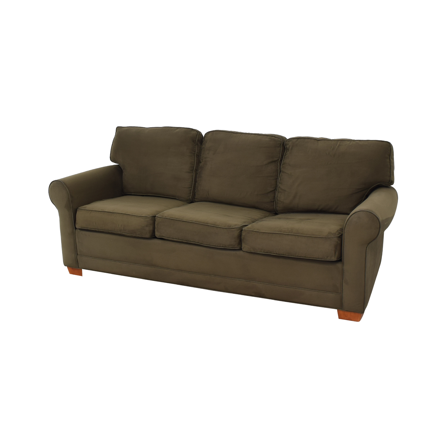 Raymour & Flanigan Rolled Arm Three Seat Sofa Bed sale
