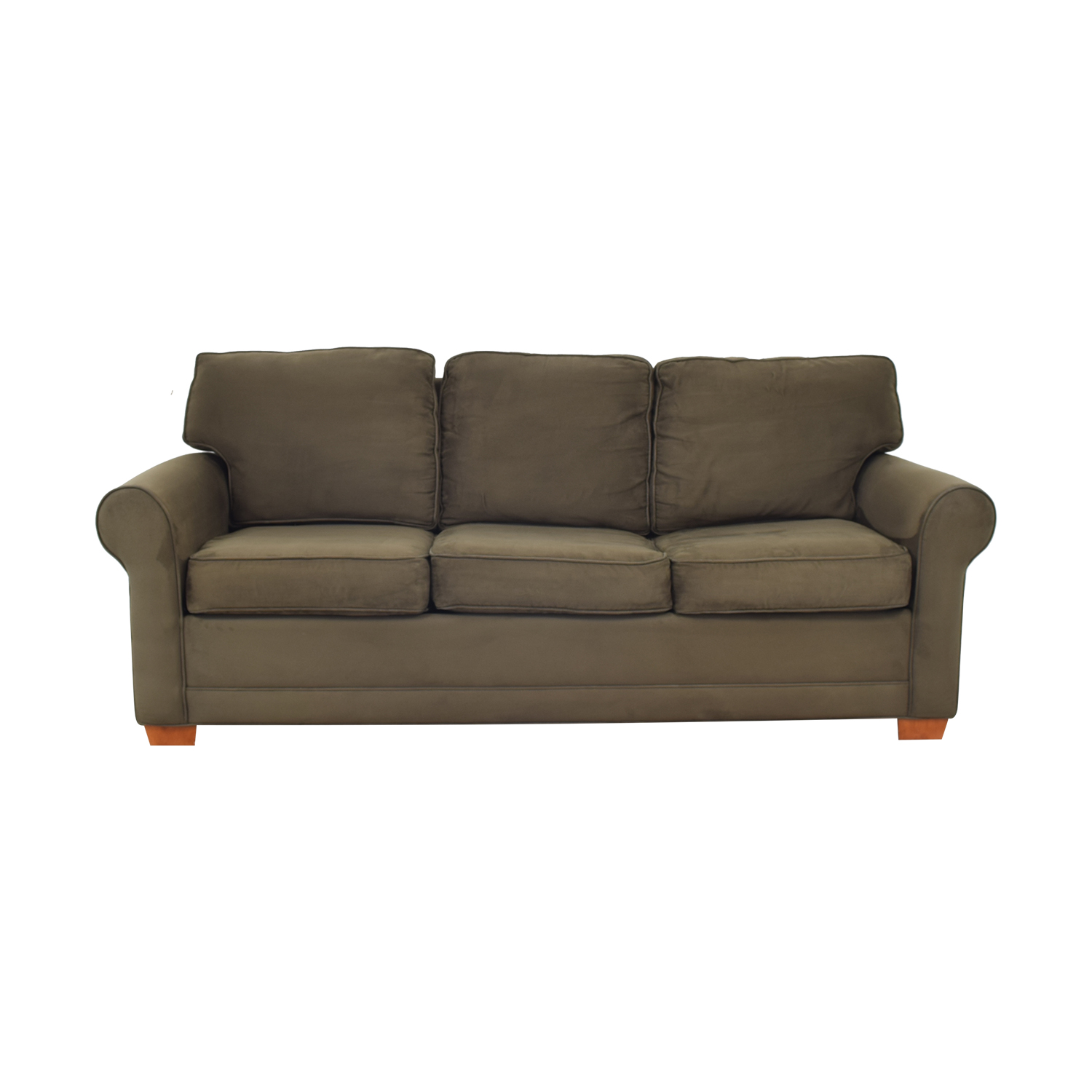 shop Raymour & Flanigan Raymour & Flanigan Rolled Arm Three Seat Sofa Bed online