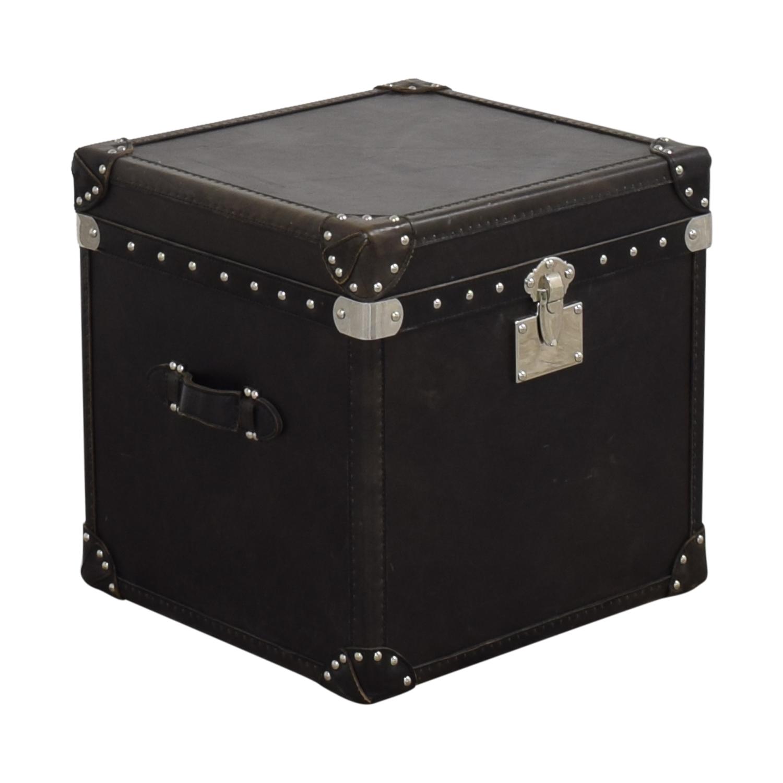 Restoration Hardware Restoration Hardware Steamer Trunk Cube black