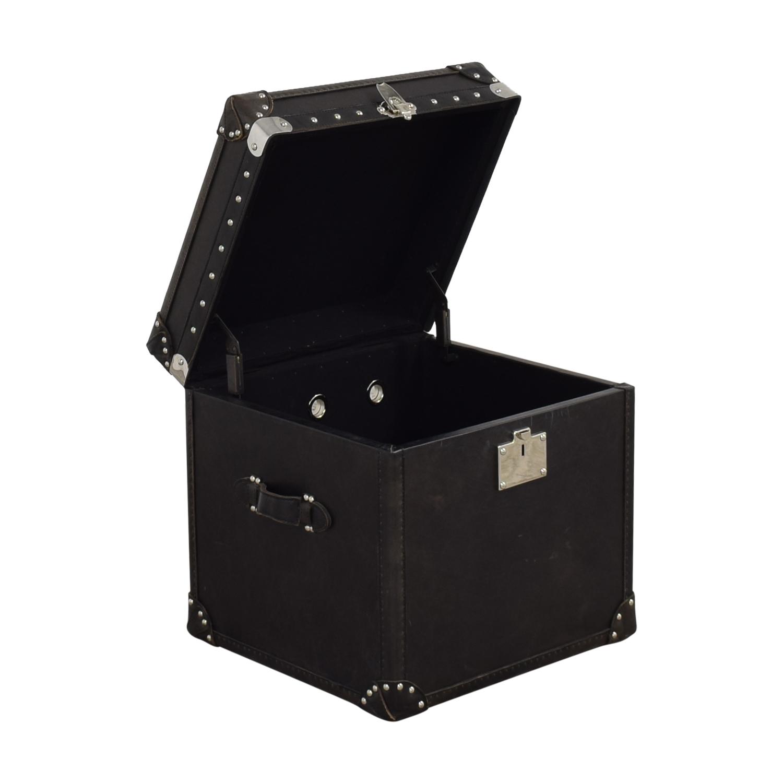 Restoration Hardware Restoration Hardware Steamer Trunk Cube dimensions