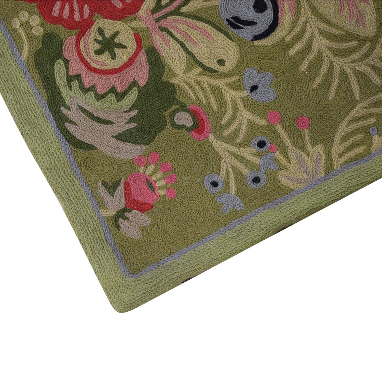 buy Anthropologie Anthropologie Woven Wool Floral Rug online