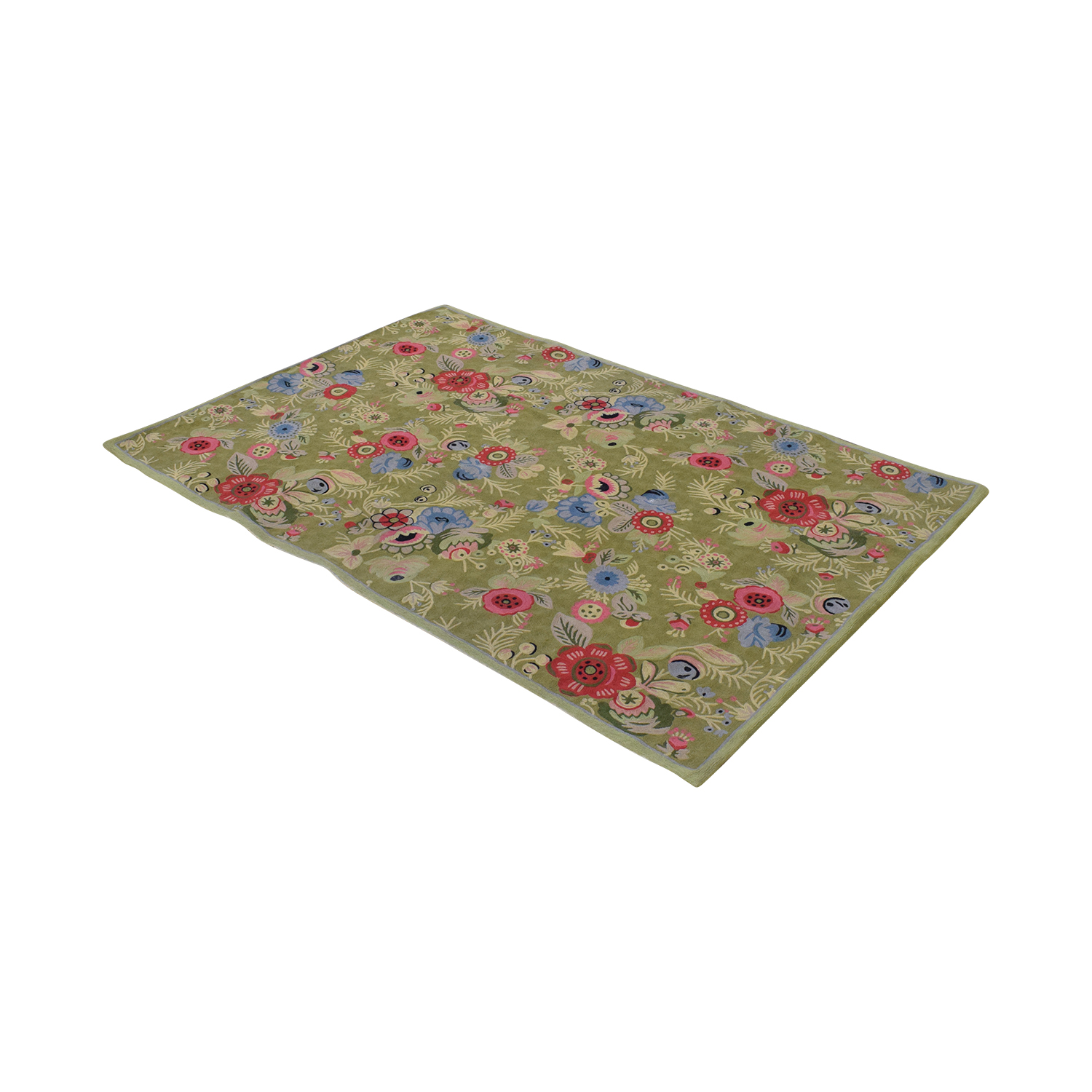 Anthropologie Anthropologie Woven Wool Floral Rug price