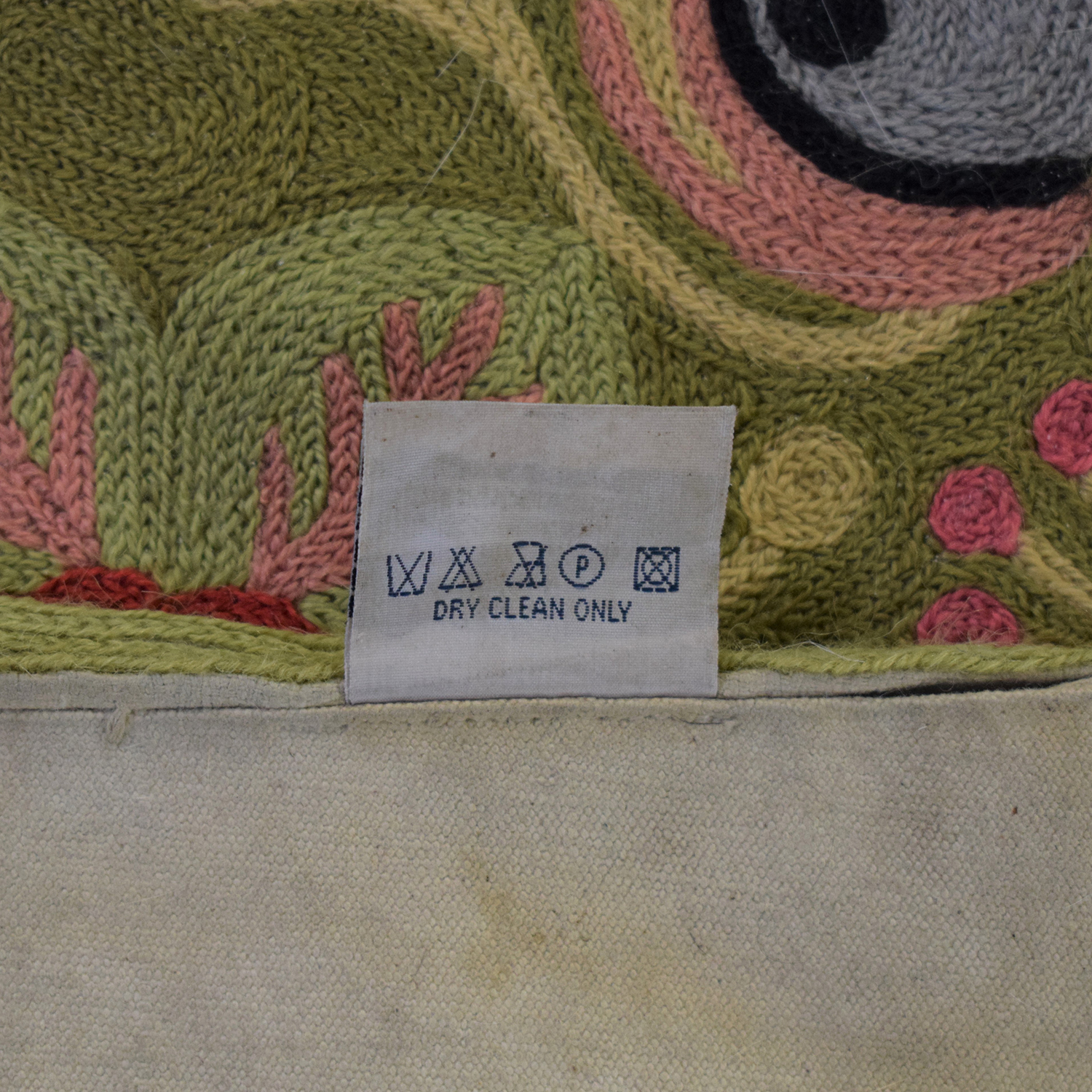 Anthropologie Woven Wool Floral Rug sale