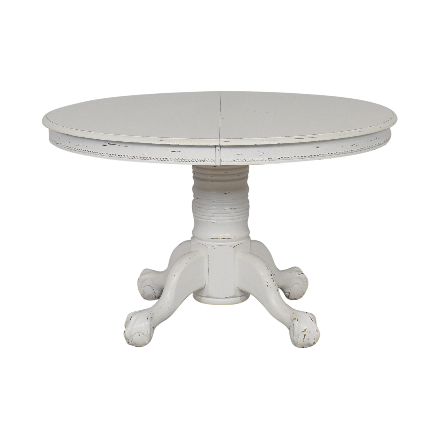 buy  Farmhouse White Round Dining Table online