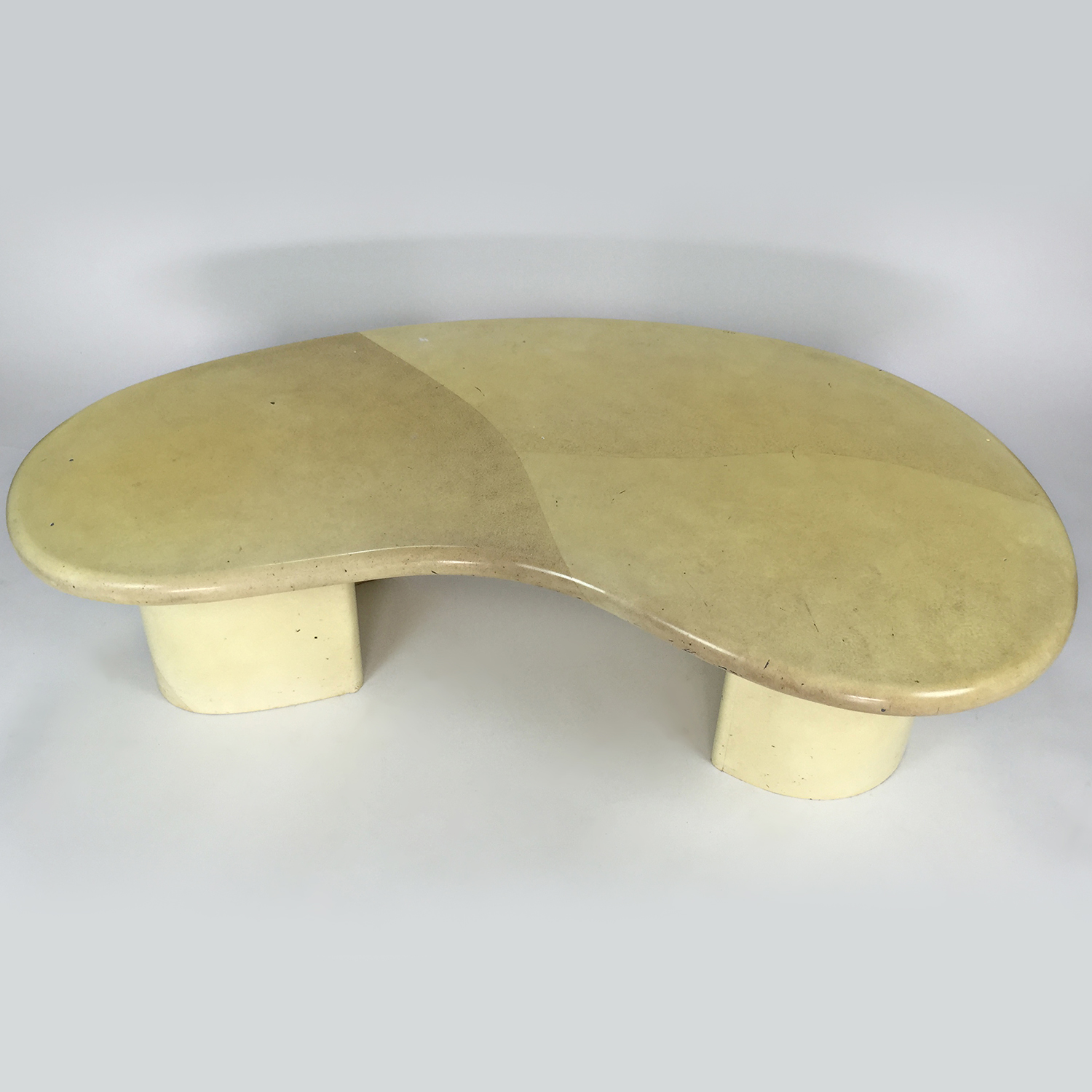 Custom Designer Curved Faux Marble Table Tables