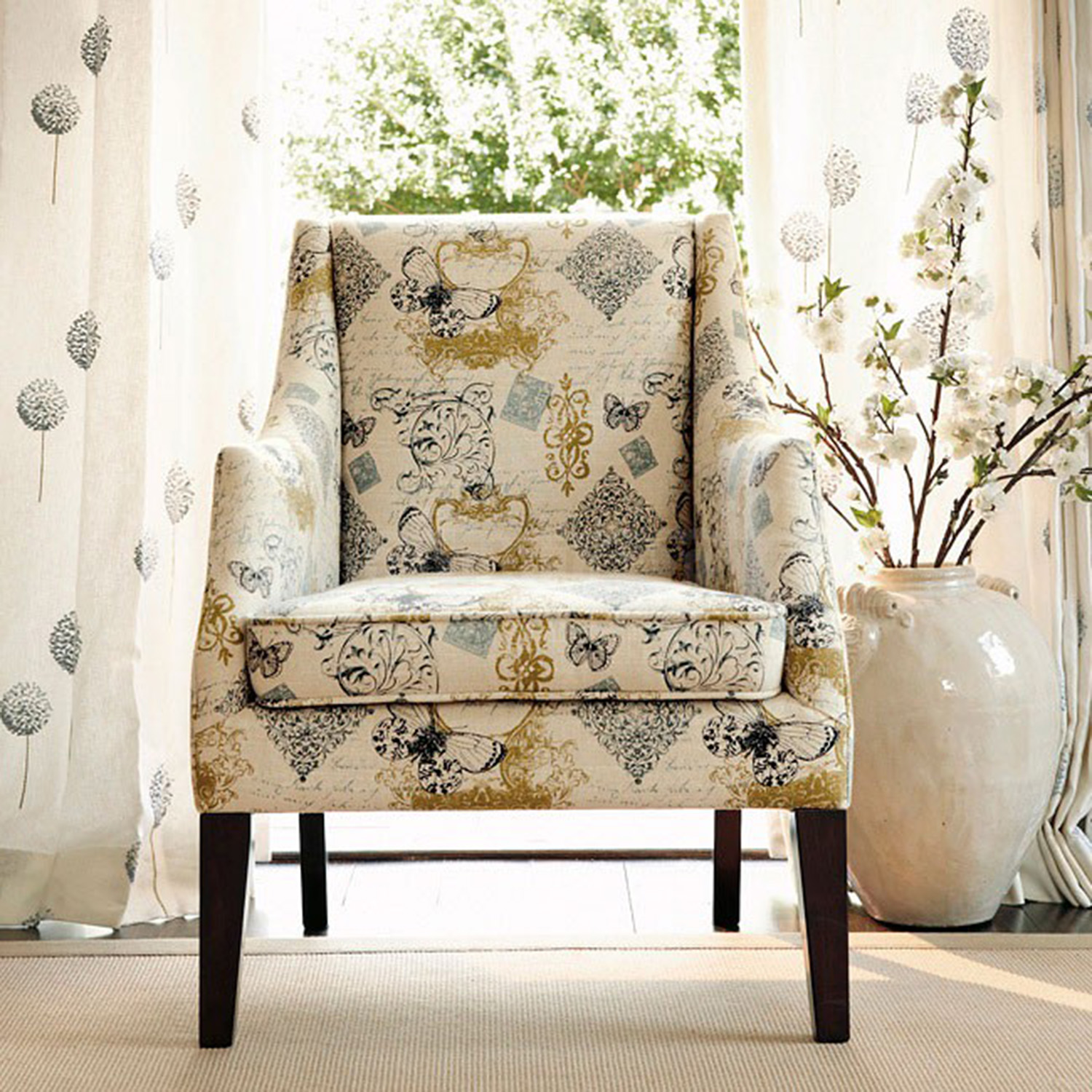 69 Off Ashley Furniture Hindell Park Putty Accent Chair Chairs