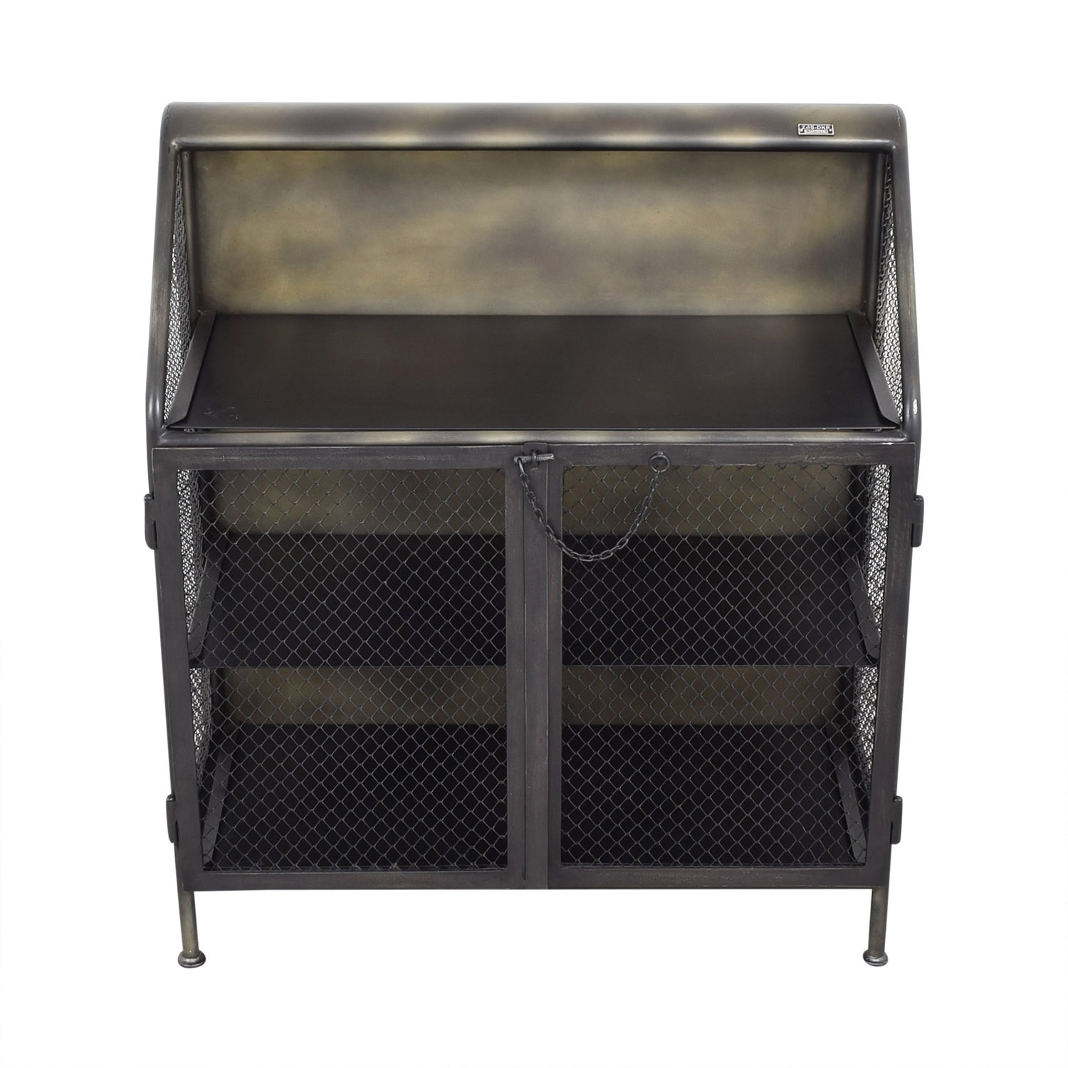 Restoration Hardware Restoration Hardware Vintage French Factory Bar Cart for sale