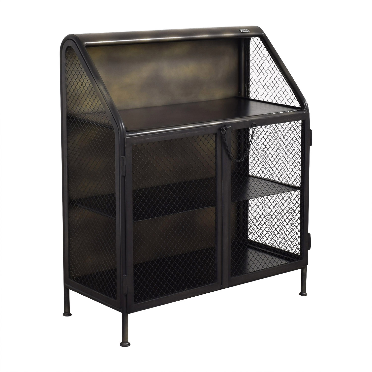 Restoration Hardware Restoration Hardware Vintage French Factory Bar Cart on sale