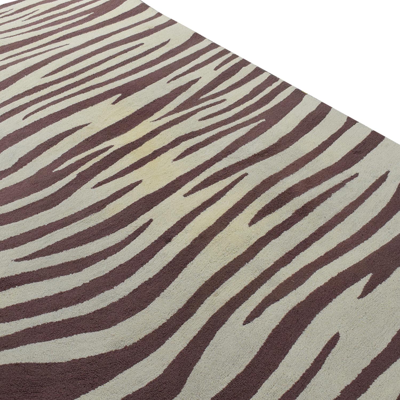 Pottery Barn Teen Zebra Pattern Rug Pottery Barn Teen