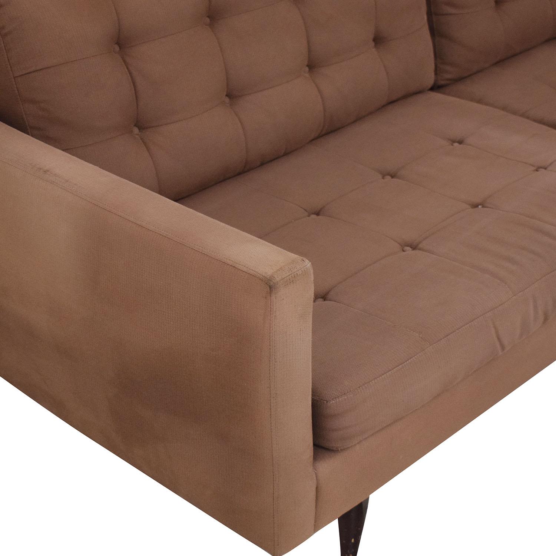 Crate & Barrel Crate & Barrel Two Cushion Sofa brown
