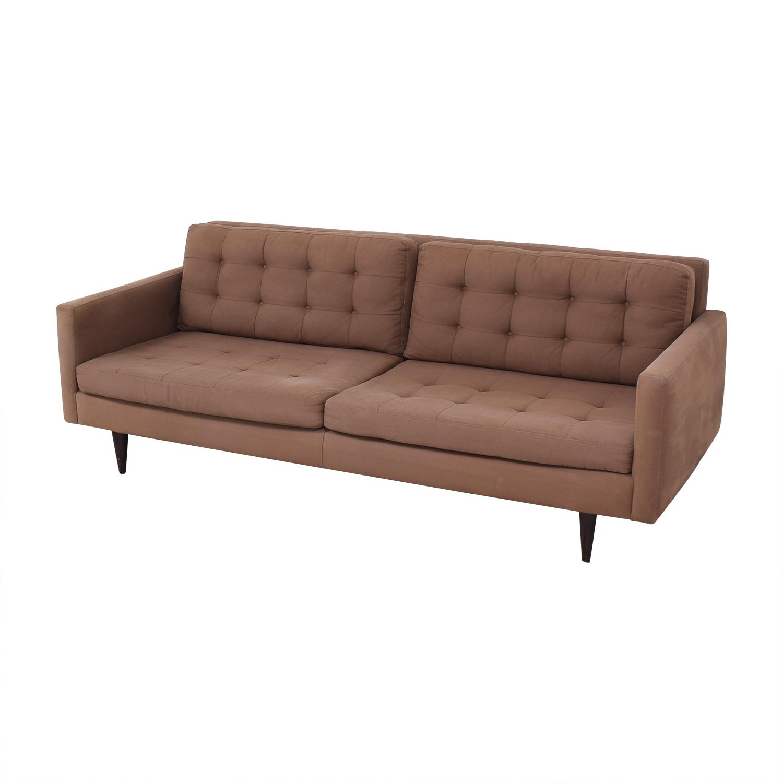 buy Crate & Barrel Two Cushion Sofa Crate & Barrel Classic Sofas