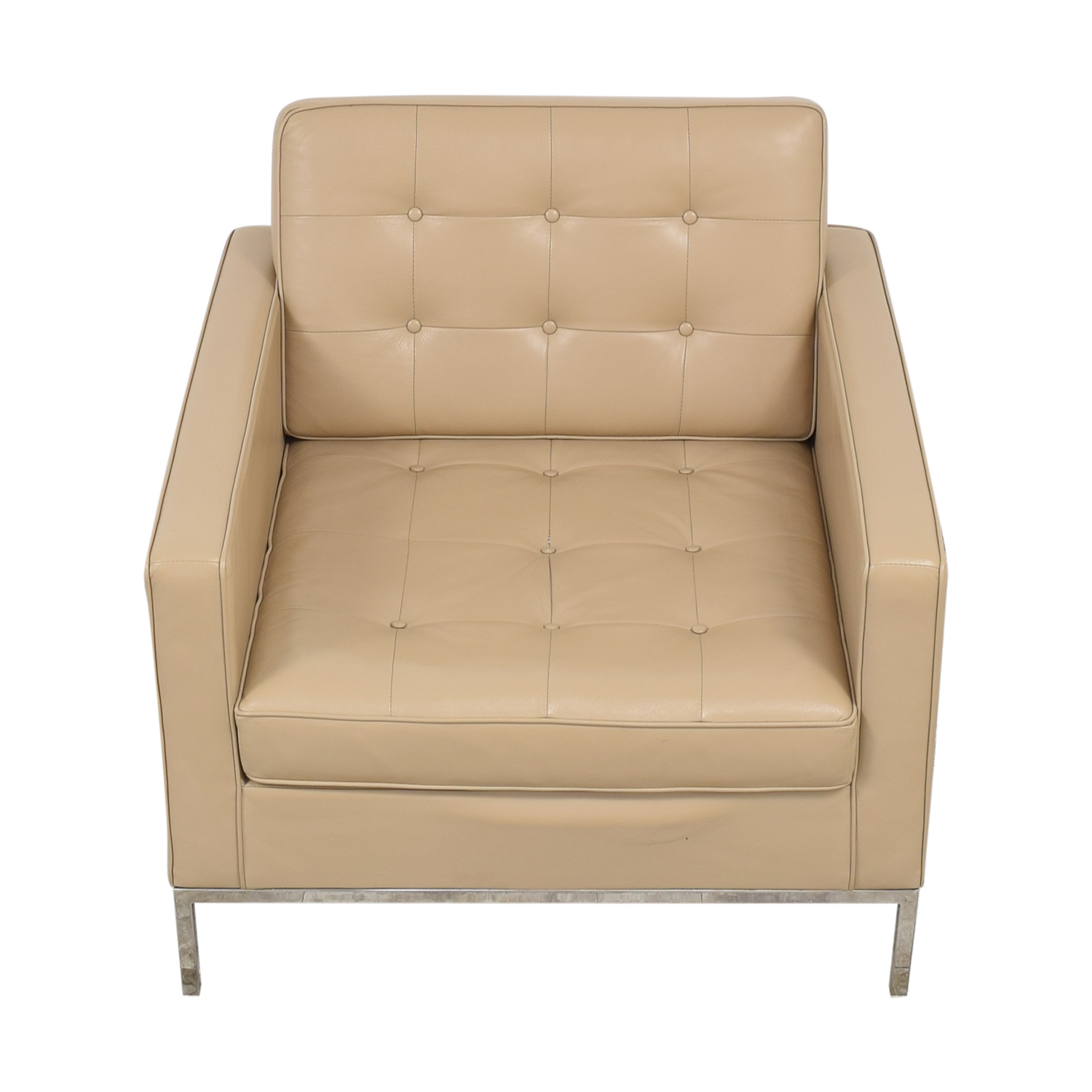 Inmod Inmod Florence Knoll Reproduction Leather Arm Chair nj