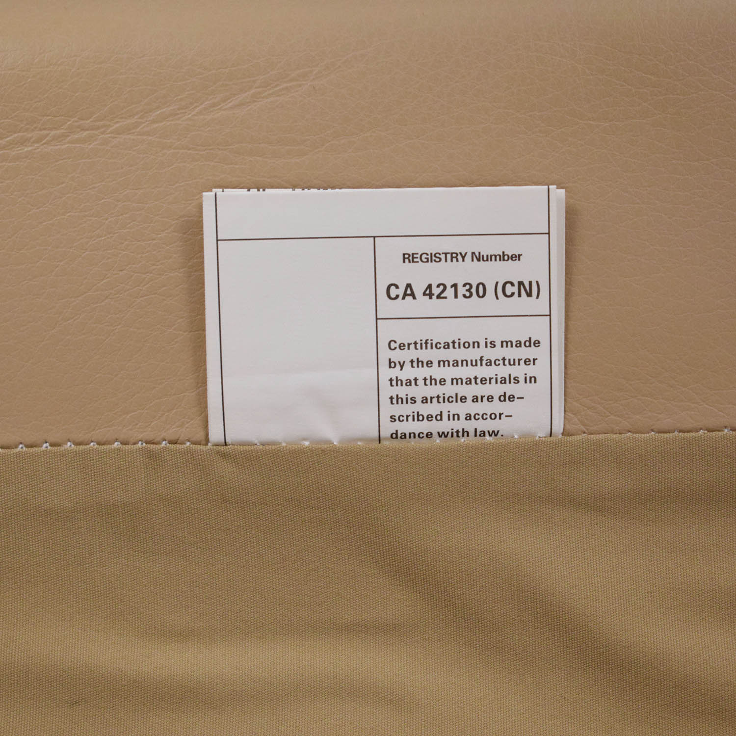 Inmod Inmod Florence Knoll Reproduction Leather Arm Chair beige