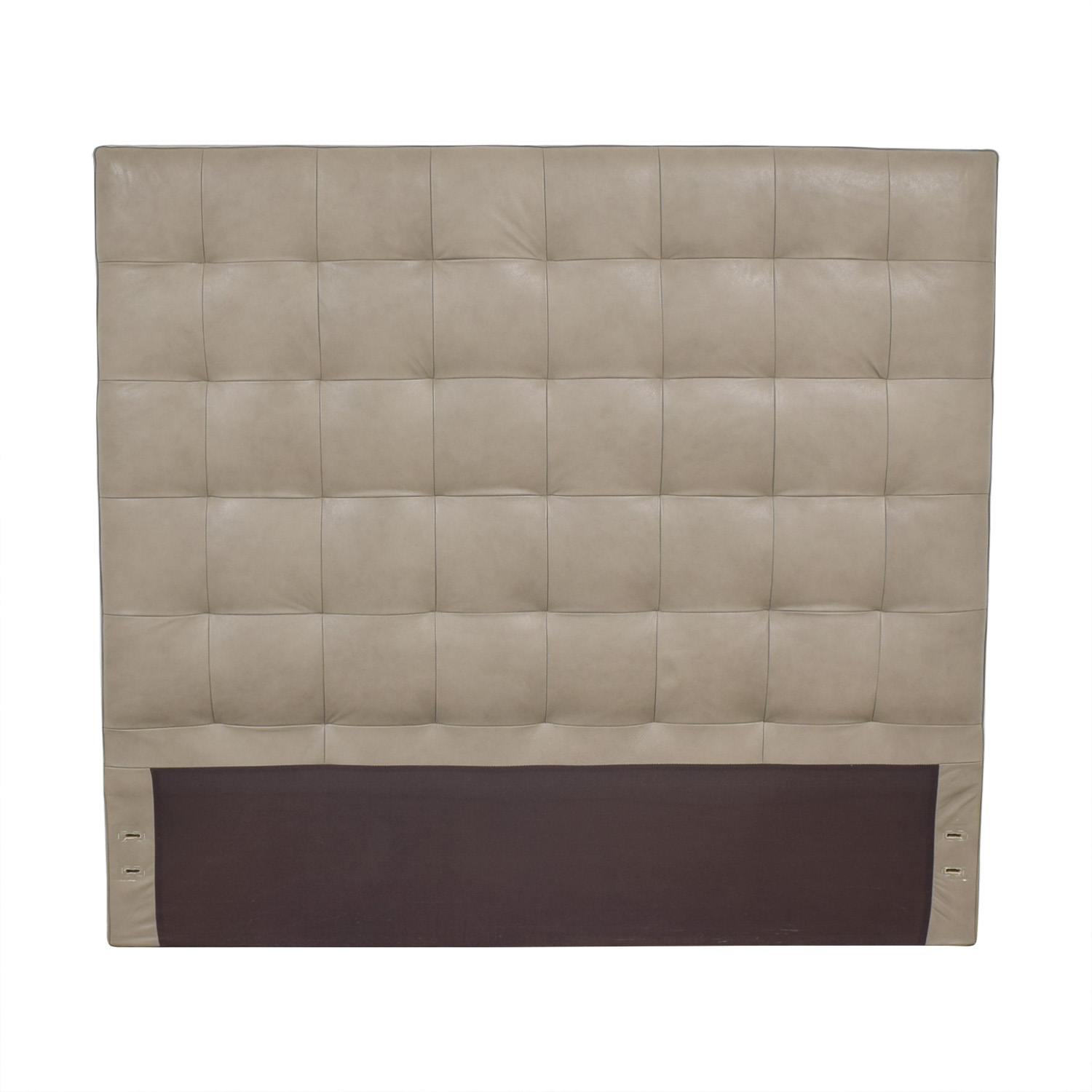 buy West Elm Queen Grid-Tufted Headboard Tall West Elm Beds