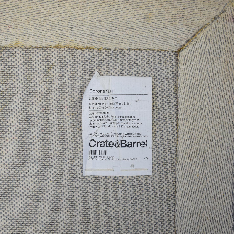 Crate & Barrel Crate & Barrel Corona Rug pa