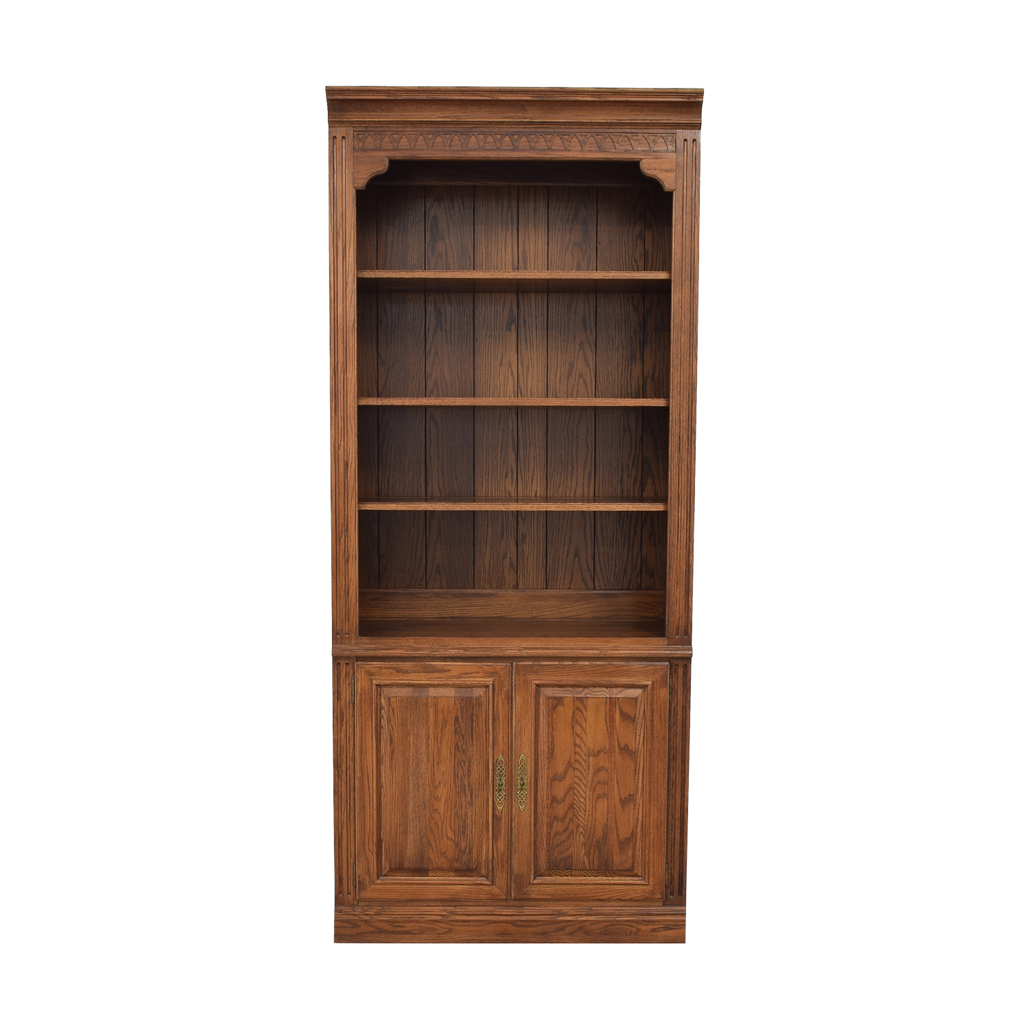 shop Ethan Allen Two Door Bookcase Ethan Allen Bookcases & Shelving