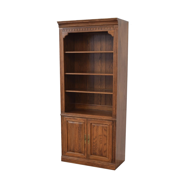 65 Off Ethan Allen Ethan Allen Two Door Bookcase Storage