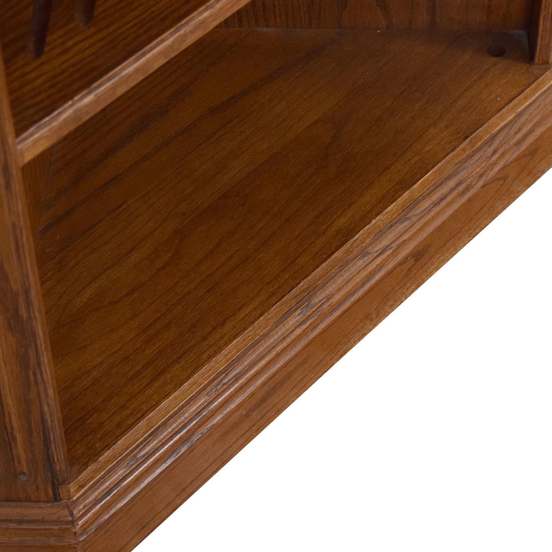 Ethan Allen Corner Bookcase / Storage