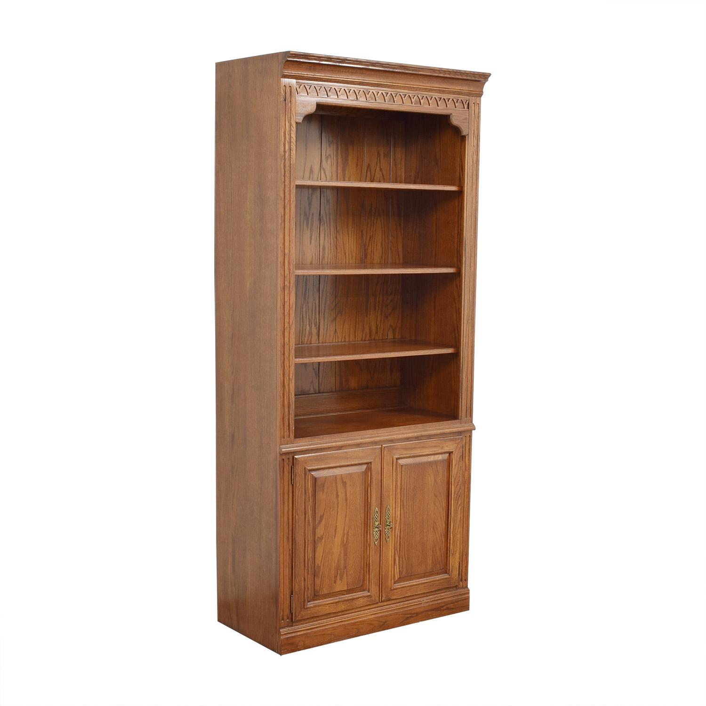 Ethan Allen Two Door Bookcase / Bookcases & Shelving