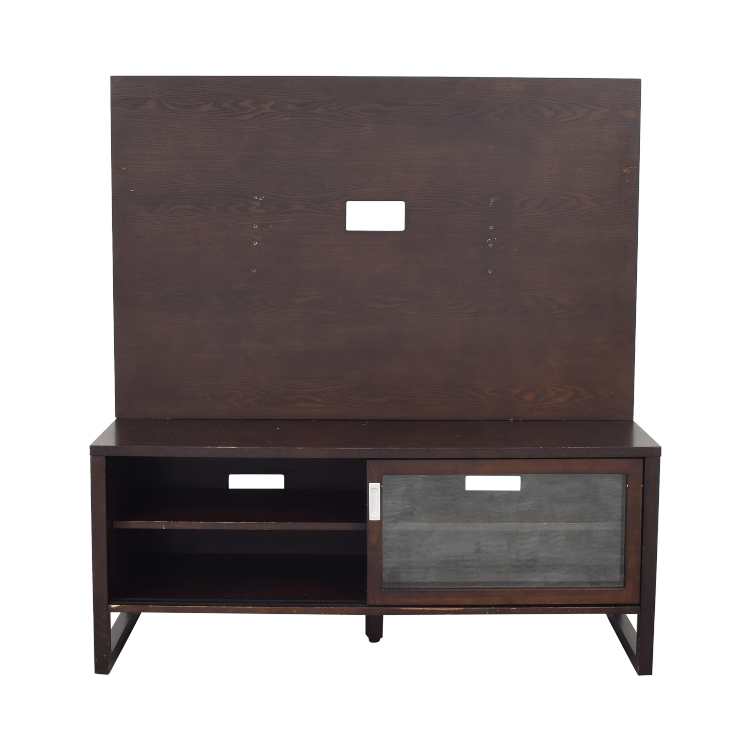 Crate & Barrel Entertainment Console with Back Panel / Storage