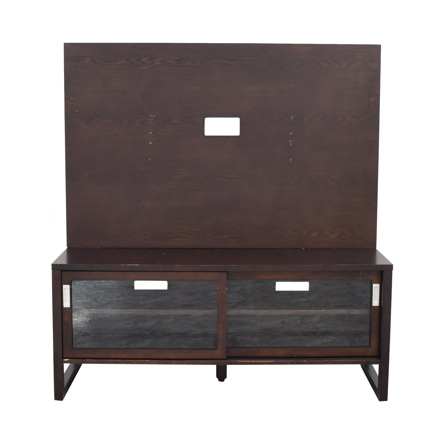 shop Crate & Barrel Entertainment Console with Back Panel Crate & Barrel Media Units