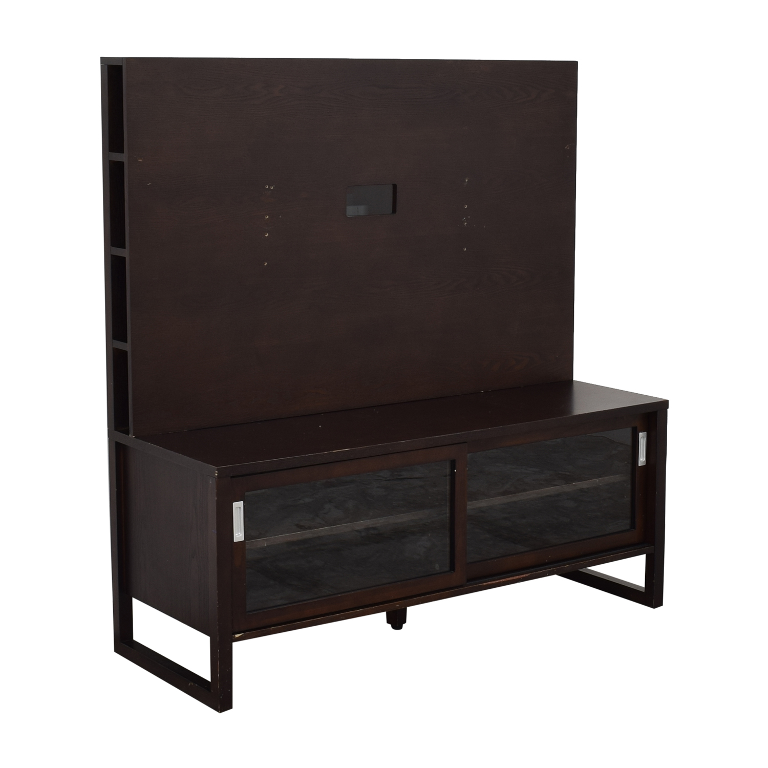 Crate & Barrel Crate & Barrel Entertainment Console with Back Panel Storage
