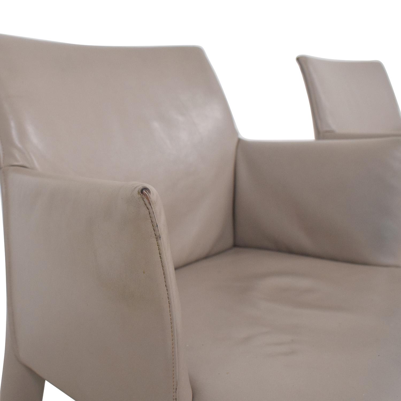 B&B Italia Mario Bellini Vol Au Vent Dining Arm Chairs second hand